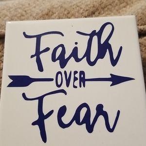 Faith over Fear coasters